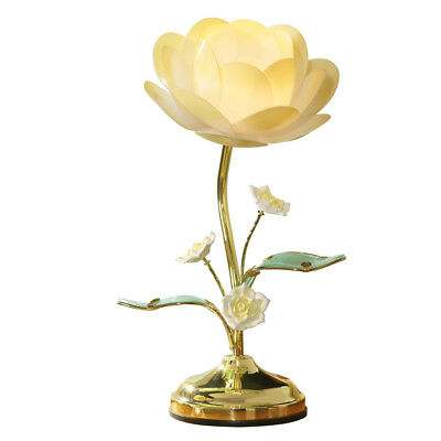 Collections Etc. Lotus Flower Touch Lamp, Table Lamp with Lotus Design, - Flower Table Lamp