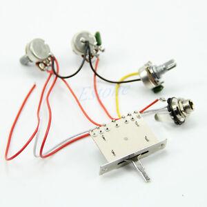 wiring guitar harness pickup 1v2t 5 way switch 500k pots jack for fender strat ebay. Black Bedroom Furniture Sets. Home Design Ideas