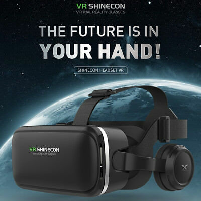 360° VR Shinecon Headset Virtual Reality 3D Glasses Iphone Samsung Sony Reality - 3 D Glasses