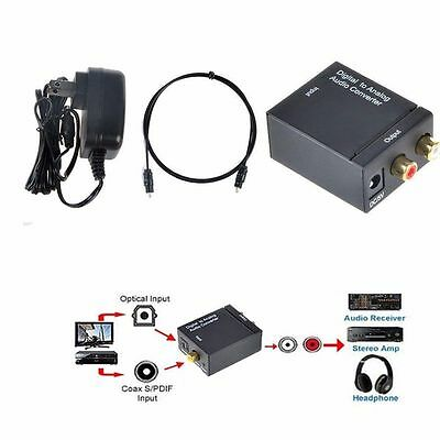 Купить Unbranded/Generic - Digital Optical Coax to Analog RCA L/R Audio Converter Adapter with Fiber Cable