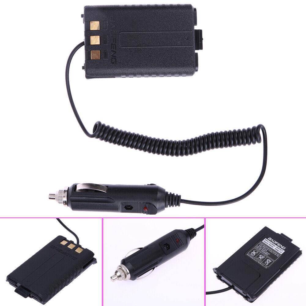 12V Car Charger Battery Eliminator for Baofeng Dual Band Rad