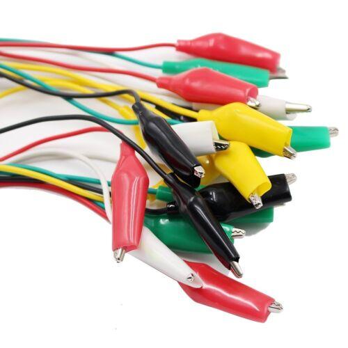 14 PCS Test Leads Set Jumper Wire With Alligator Clips 16 22 Gauge Insulation