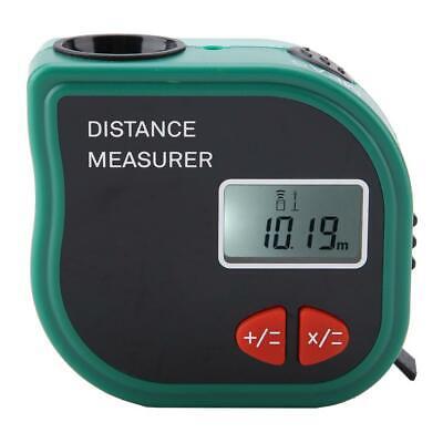18m Digital Lcd Laser Ultrasonic Distance Meter Range Finder Measure Tape