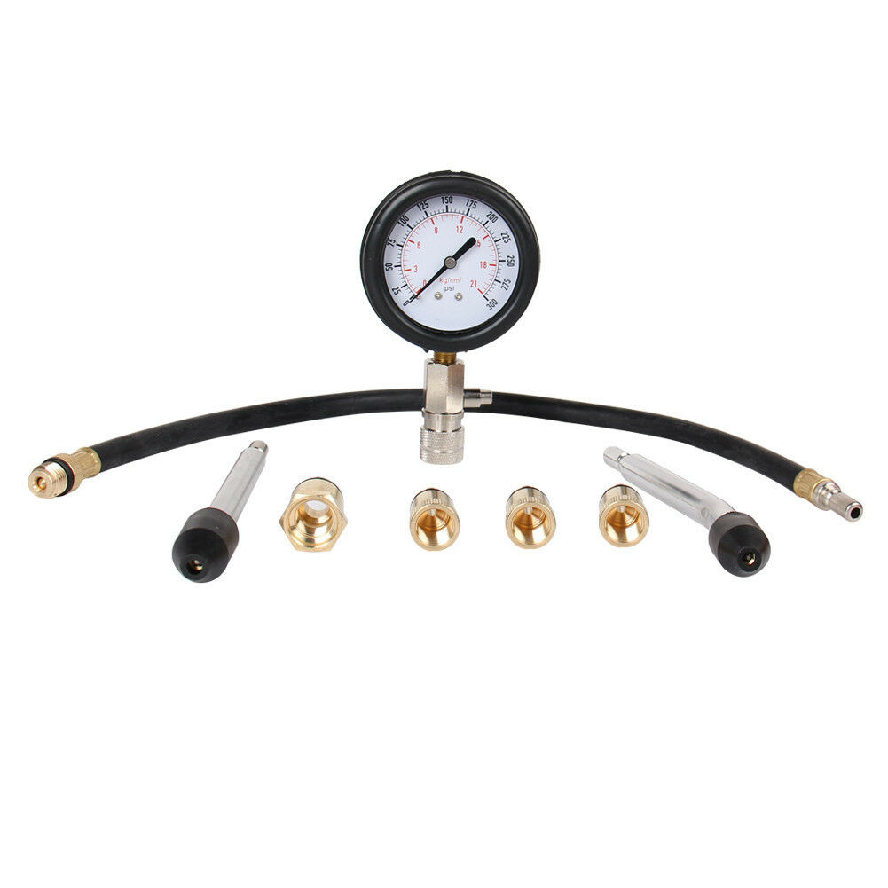 Auto Engine Gauges : Automotive petrol gas engine cylinder compression tester