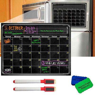 16x12 Magnetic Dry Erase Board Fridge Monthly Planner Refrigerator Black Board