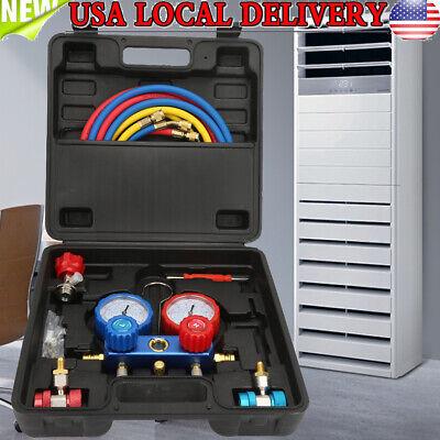 1/3hp Air Vacuum Pump HVAC Refrigeration AC Manifold Gauge Set R134a Kit