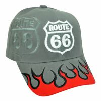 Flames Fire Route 66 Highway Road America Costruito Cappello Primo Fuoco a134b09db349
