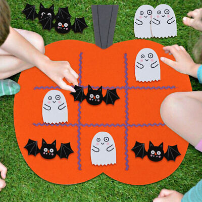 OurWarm Felt Halloween Pumpkin Tic Tac Toe Game Kids Early Education Game Gift](Baby Games Halloween)