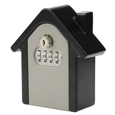 Double Password Key Lock Storage Case Box Home Security Wall Mounted Outdoor