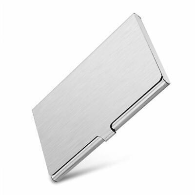 Aluminum Business Card Holder - Pocket Aluminum Steel & Metal Business Card Holder Case ID Credit Wallet Silver