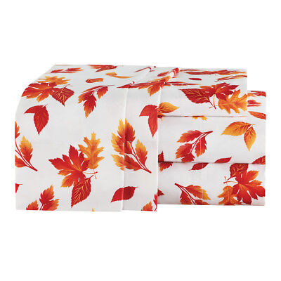 Fall Leaves Sheet Set, 4 Pc, by Collections Etc ()
