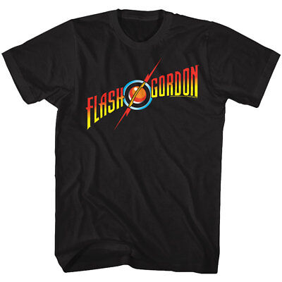 Flash Gordon Movie Full Color Logo Adult T Shirt Classic 80's Movie](Adult Flash Movie)