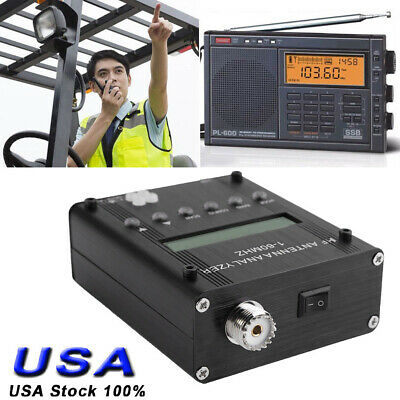1-60m Digital Shortwave Antenna Analyzer Meter Tester Mr300 For Ham Radio Us