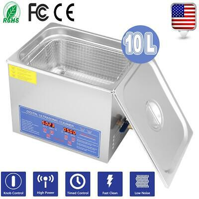 10 L Liter Stainless Steel Industry Heated Ultrasonic Cleaner Heater Wtimer Us