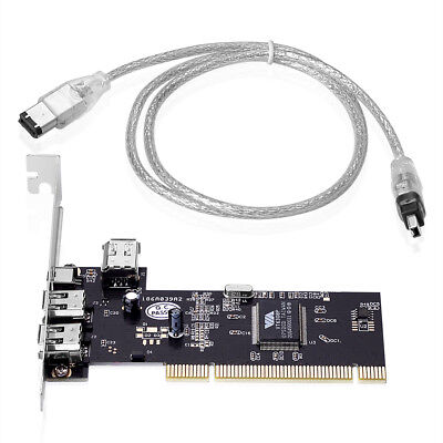 PCI IEEE 1394a Card 1394a FireWire Karte mit VT6308p Chipsatz mit Kabel 6P+4P