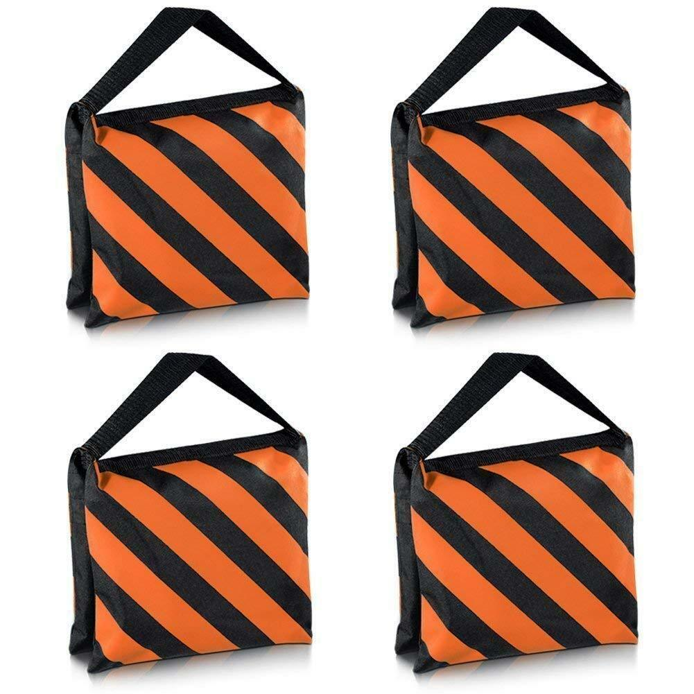 4pack orange heavy duty sandbag weight holds