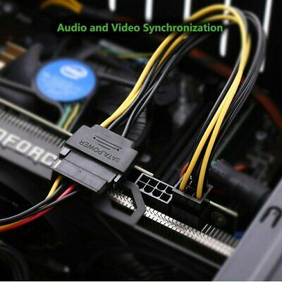 15pin SATA Power to 6pin PCIe PCI-e PCI Express Adapter Cable for Video Card Computer Cables & Connectors