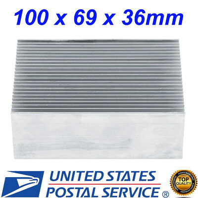 Aluminum Heat Sink Heatsink 100x69x36mm For High Power Led Amplifier Transistor