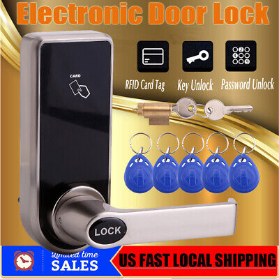 Electronic Digital Smart Password Door Lock Keypad Touch Screen With 5 RFID -