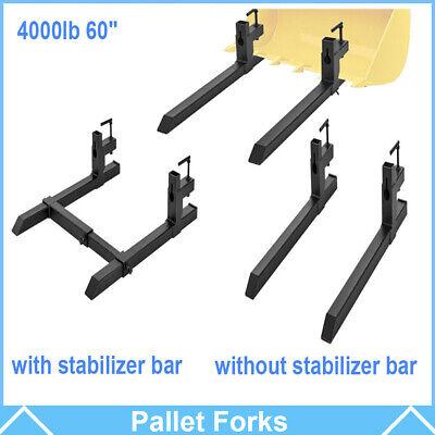 4000lbs 60 43 Tractor Pallet Forks Skid Steer Loader Bucket Clamp Forks Usa