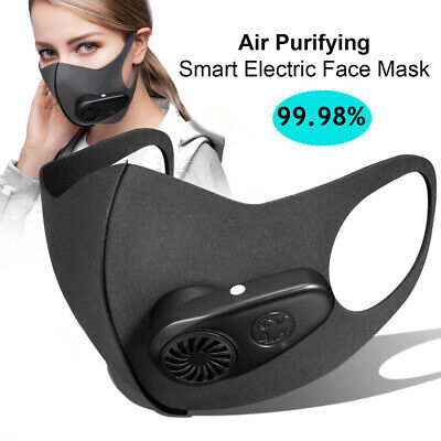 Reusable Electric Outdoor Running Air Purifying Face Mouth Mask With Filter USA Accessories