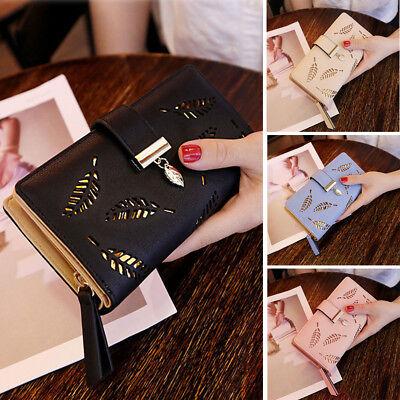 Women Lady Clutch Leather Wallet Long Card Holder Phone Case Purse Handbag Hot - Purse Wallet