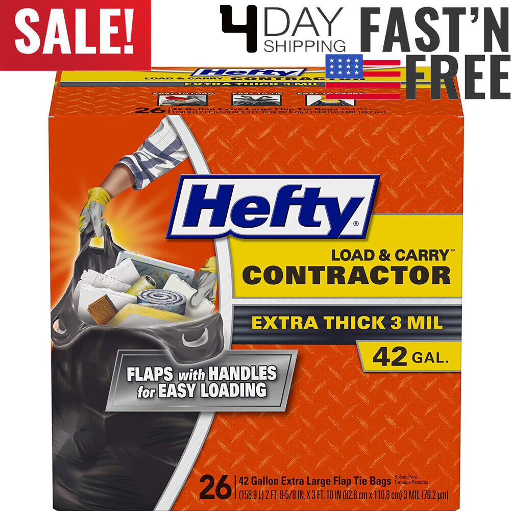 Hefty Load and Carry Contractor Heavy Duty Trash/Garbage Bag