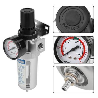 12 Air Compressor Moisture Water Trap Filter Regulator W Mount Connection Ms
