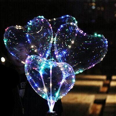 Leuchtend Led Luftballon Transparent Rund Liebe Herzförmig Dekor für Party new