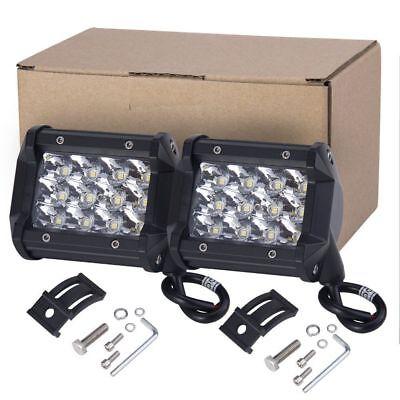 4In 144W Cube LED Pods Work/Driving Light Bar Spotlight Monitor Off-Road UTE 12V