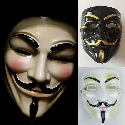 V für Vendetta Maske Guy Fawkes Anonymous Halloween - Fawkes Kostüm