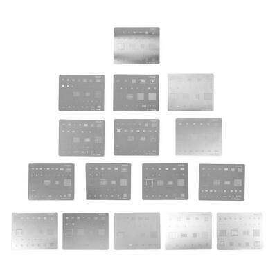 16pcs Ic Chip Bga Reballing Stencil Kits Set Solder Template For Iphone 45678x