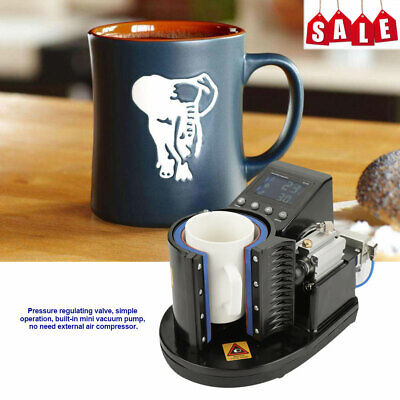 110v Cup Coffee Mug Heat Press Transfer Sublimation Machine St-110 Black