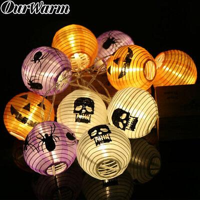 DIY Halloween Pumpkin String Lights LED Fairy light Lantern Home Props Decor