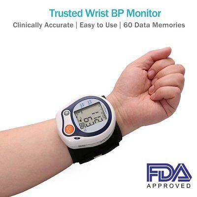 Wrist Blood Pressure Monitor Pulse Heart Rate BP Cuff Auto Machine LED Display Auto Blood Pressure Monitor