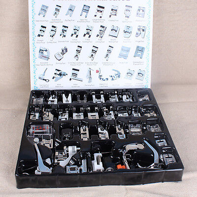 32PCS Home Sewing Machine Presser Foot Feet Tool Set For Brother Singer Janome