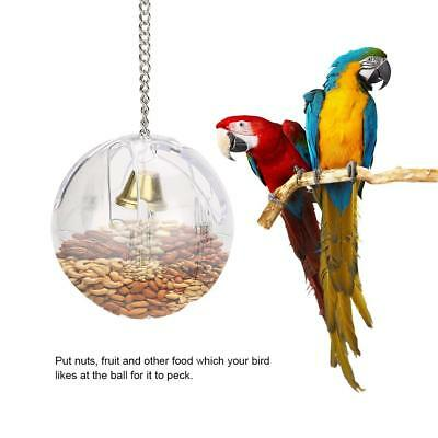 Parrots Ball Toys Food Feeder Hanging Cage Birds Foraging Chain For Treats