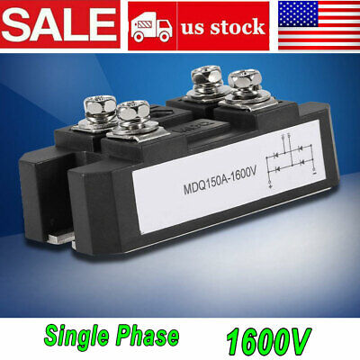 New 4 Terminals Single-phase Diode Bridge Rectifier 150a Amp High Power 1600v Us