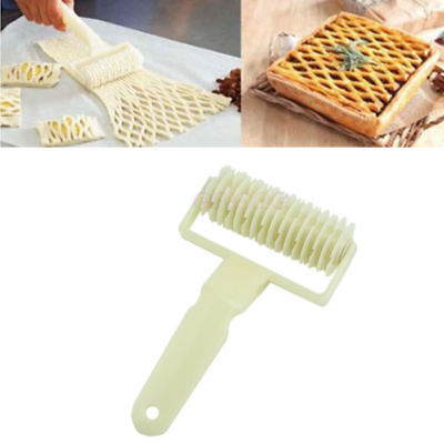 New Dough Bread Cookies Pie Cake Lattice Pastry Cutter Roller Kitchen Tool Craft