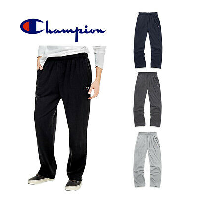 Champion Men's P7309 Open Bottom Light Weight Gym Athletic Jogger Sweatpants Activewear
