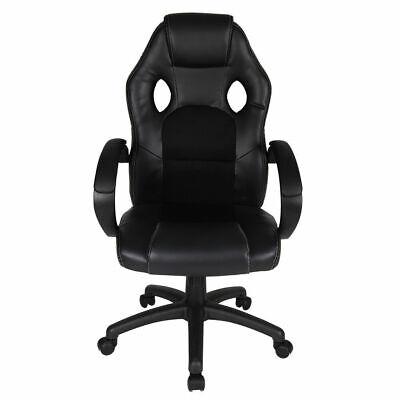 Black Five Star Leather High Back Executive Office Chair Ergonomic  Swivel