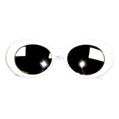 Kurt Cobain White Mirror Lens Sunglasses Nirvana Jackie O Onassis Kennedy (Jackie O Sunglasses White)