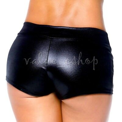 Sexy lingerie Women Patent Leather Wetlook Shorts Clubwear hot pants Party Dance Sexy Leather Hot Pants