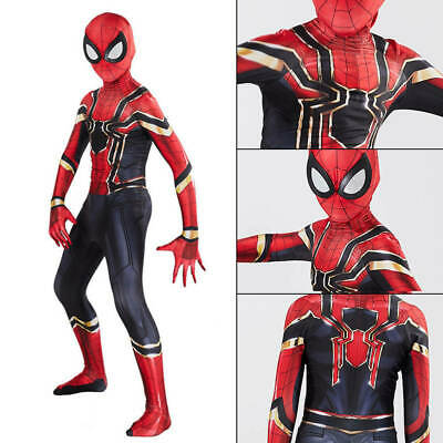US Spider-Man Homecoming Jumpsuit Iron Spiderman Suit Superhero Cosplay Costume
