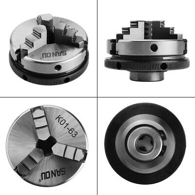 Mini 3 Jaw K01-63 2.5 63mm M14 Reversable Self-centering Jaws Lathe Chuck
