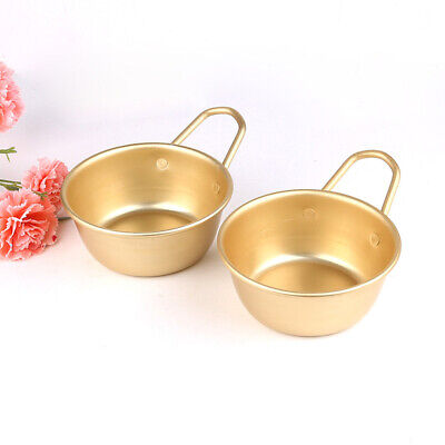 Aluminum Korean Traditional Round Makgeolli Rice Bowl Wine Cup with Handle  Wine Round Bowl