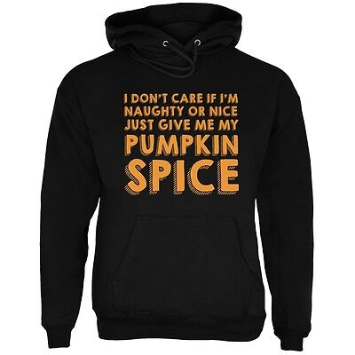 Naughty Or Nice Pumpkin Spice Black Adult Hoodie - Naughty Pumpkin