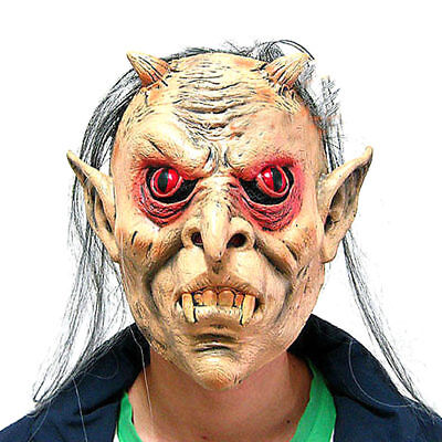 Maske Masquerade Ghost Augen Rot Gesicht Punk Halloween Verkleidung Nacht  (Halloween Ghost Gesichter)