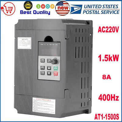 Ac220v 2hp Single Phase Variable Frequency Drive Inverter Vfd 1.5kw 3 Phase Usa