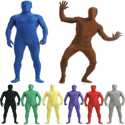 Men's Full Body Lycra Spandex Second Skin Suit Halloween Party Zentai Costume
